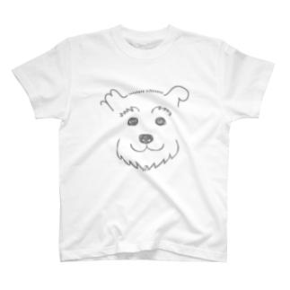 手書きシュナ(グレーver.) T-shirts