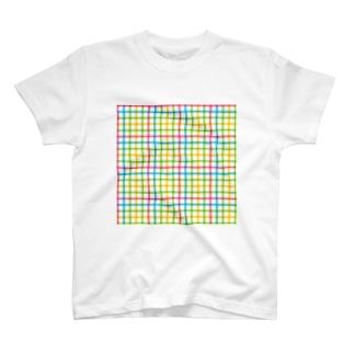 カラーライン T-shirts