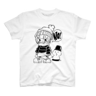 イヤイヤ子ちゃん 雪あそびver. T-shirts