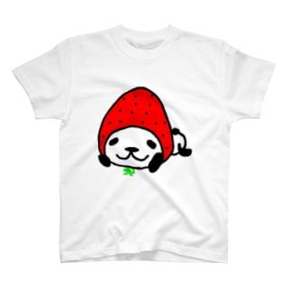 イチゴなパンダ。 T-shirts