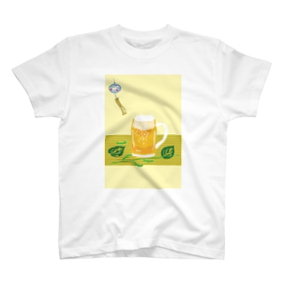ジョッキ生ビールと枝豆 T-shirts