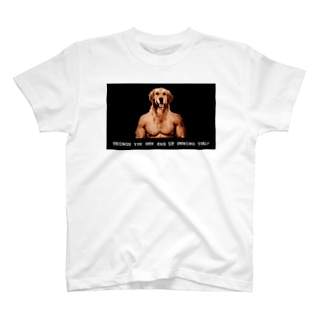 問いかける犬 T-shirts
