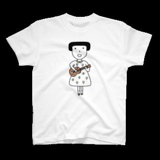 そろり屋のウクレレ女子 T-shirts