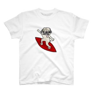 波乗りパグ T-shirts