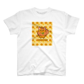 [フルーツ猫シリーズ]みかん猫のマンダリン・縁取りver. T-shirts