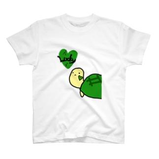 ラッキータートルTシャツ(前面ver) T-shirts