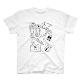 ぶちゃくま。school T-shirts