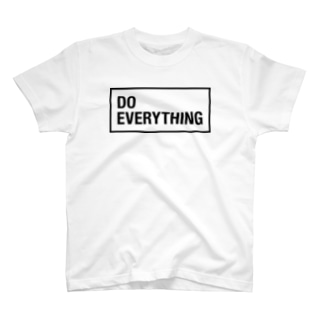 ゾエコレクションの(黒文字)なんでもやんなきゃダメでしょ!DO EVERYTING T-shirts