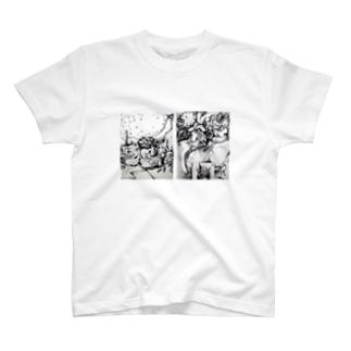 ひよこ書店 ☆ SEIKO Goods Shop from NASUのドローイング4 T-shirts