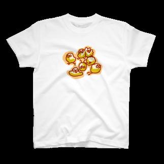 イカラリー&ちょぴのちょぴ 鳥さんみたいなイキモノ T-shirts