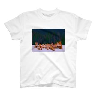 キツネTシャツ T-shirts