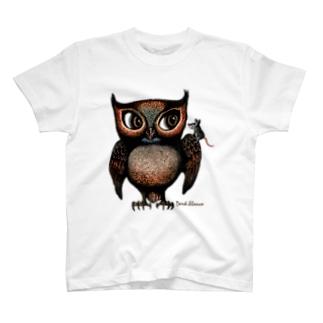 """Dark blanco """"Owl"""" T-shirts"""