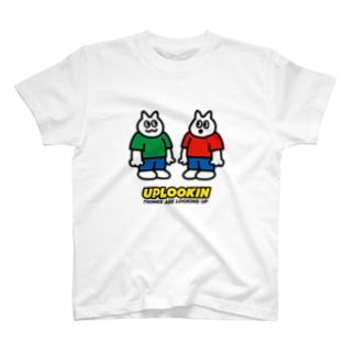 UPLOOKIN NEKO-CHAN T-shirts