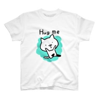 ニーソねこ(だっこ) T-shirts