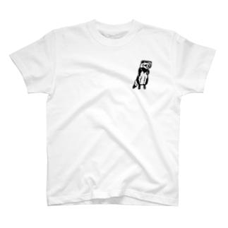 そば屋タヌキくん T-shirts