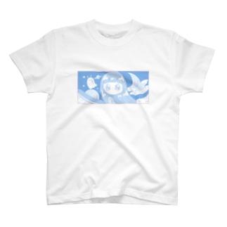 女の子とポヨポヨ星人 T-shirts