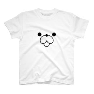 くまぽこ顔面パーツ T-shirts