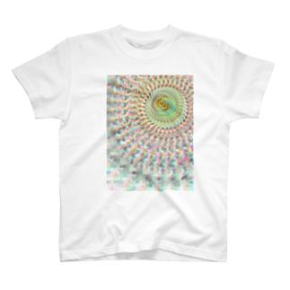 放射中心ずらし T-shirts