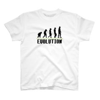 Pixel Evolution ドット絵 人類の進化 T-shirts