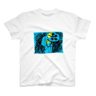 絆創膏のれんこん T-shirts