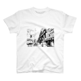 ネパール・タメル  T-shirts