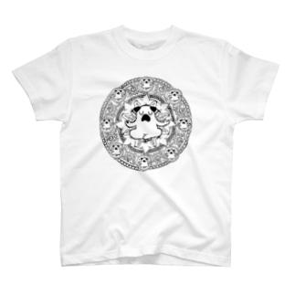 曼荼羅ぷーやん(黒) T-shirts