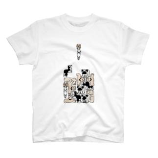犬ブロック T-shirts