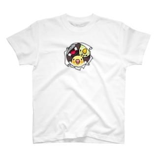 なかよしインコ【まめるりはことり】 T-shirts