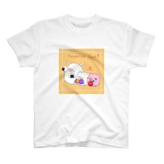 こぶたとすきなたべもの。 T-shirts