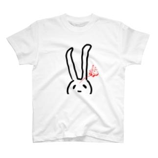 血しぶきうさぎ T-shirts
