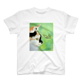 cat and butterfly T-shirts