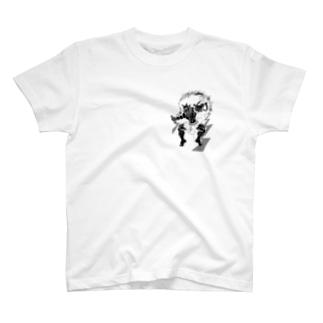 白黒雷神之図 T-shirts