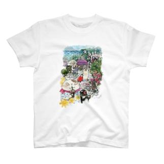 猫とペンギンと旅気分 T-shirts