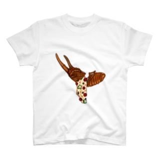 カブトムシピザ T-shirts