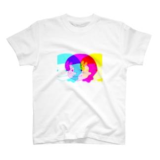 ハローガール(カラフル) T-shirts