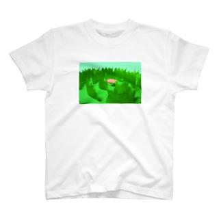 草原のうさぎ T-shirts
