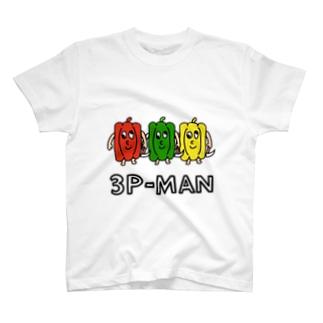 狂った3種のピーマンくんたちTシャツ T-shirts