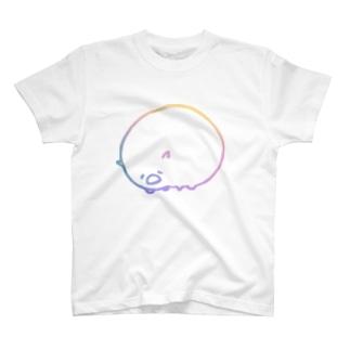 よわそうな動物たち ウォンバット 虹色 T-shirts