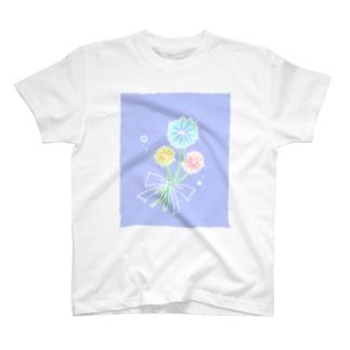 ふんわりお花 T-shirts