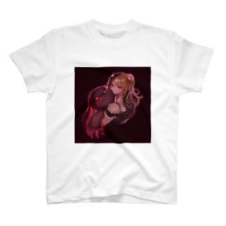 うさぎとお友達の女の子 T-shirts