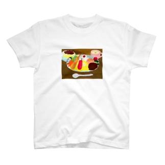 お子さまランチ相撲 T-shirts
