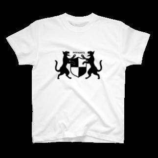 無真獣73号の吼える猫の紋章服・明色向け T-shirts