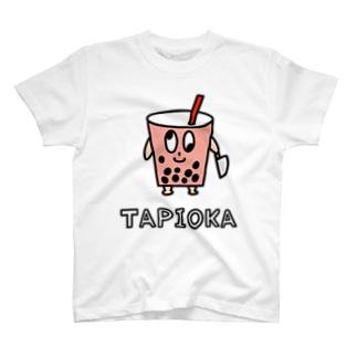 狂ったタピオカくんTシャツ T-shirts