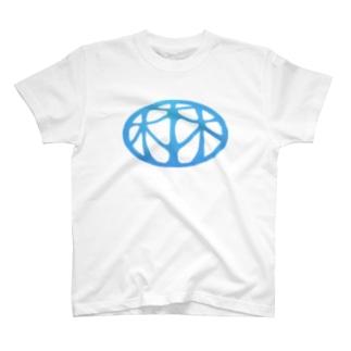 HARUYASUの細長ロゴマーク T-shirts