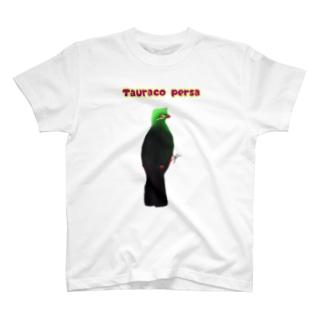 見返り美鳥(ギニアエボシドリ)① T-shirts