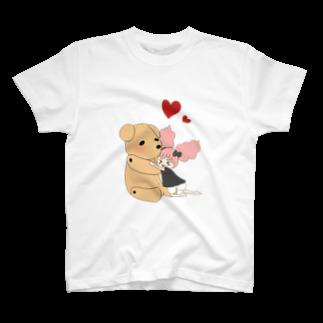 せみ/세미@白紙は奴隷⛄️のぽんちゃんとくまくま T-shirts