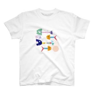 カラフルボーン T-shirts