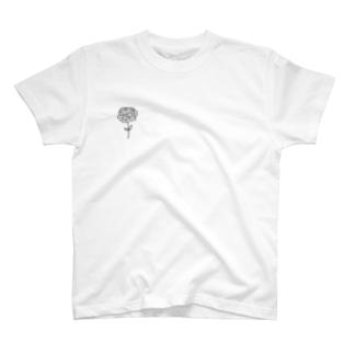 ペン画 ローズ T-shirts