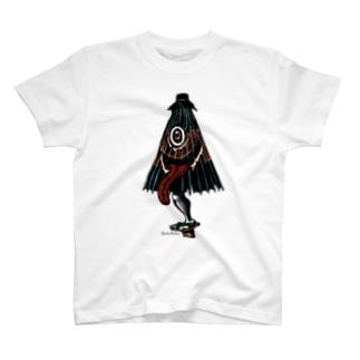 """Dark blancoのDark blanco """"karakasa"""" T-shirts"""