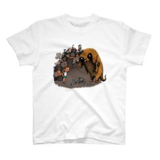 "Dark blanco ""Monster 4"" T-shirts"